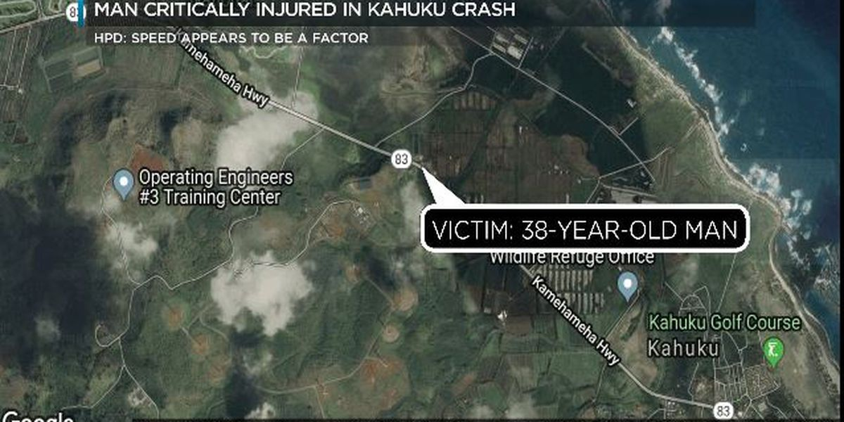 Speed appears to be a factor in critical crash in Kahuku