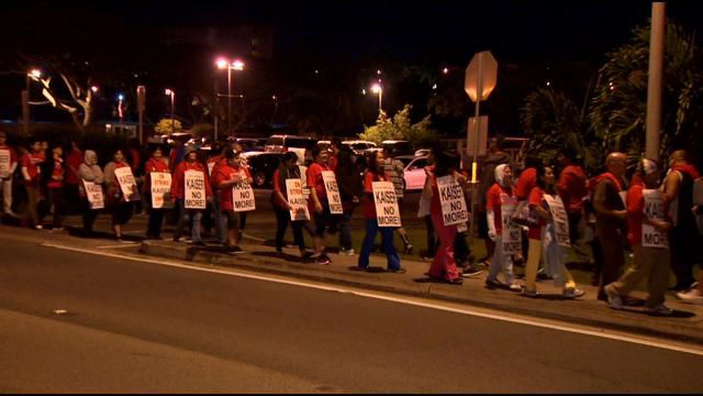 Patients face picket lines at Hawaii's Kaiser clinics