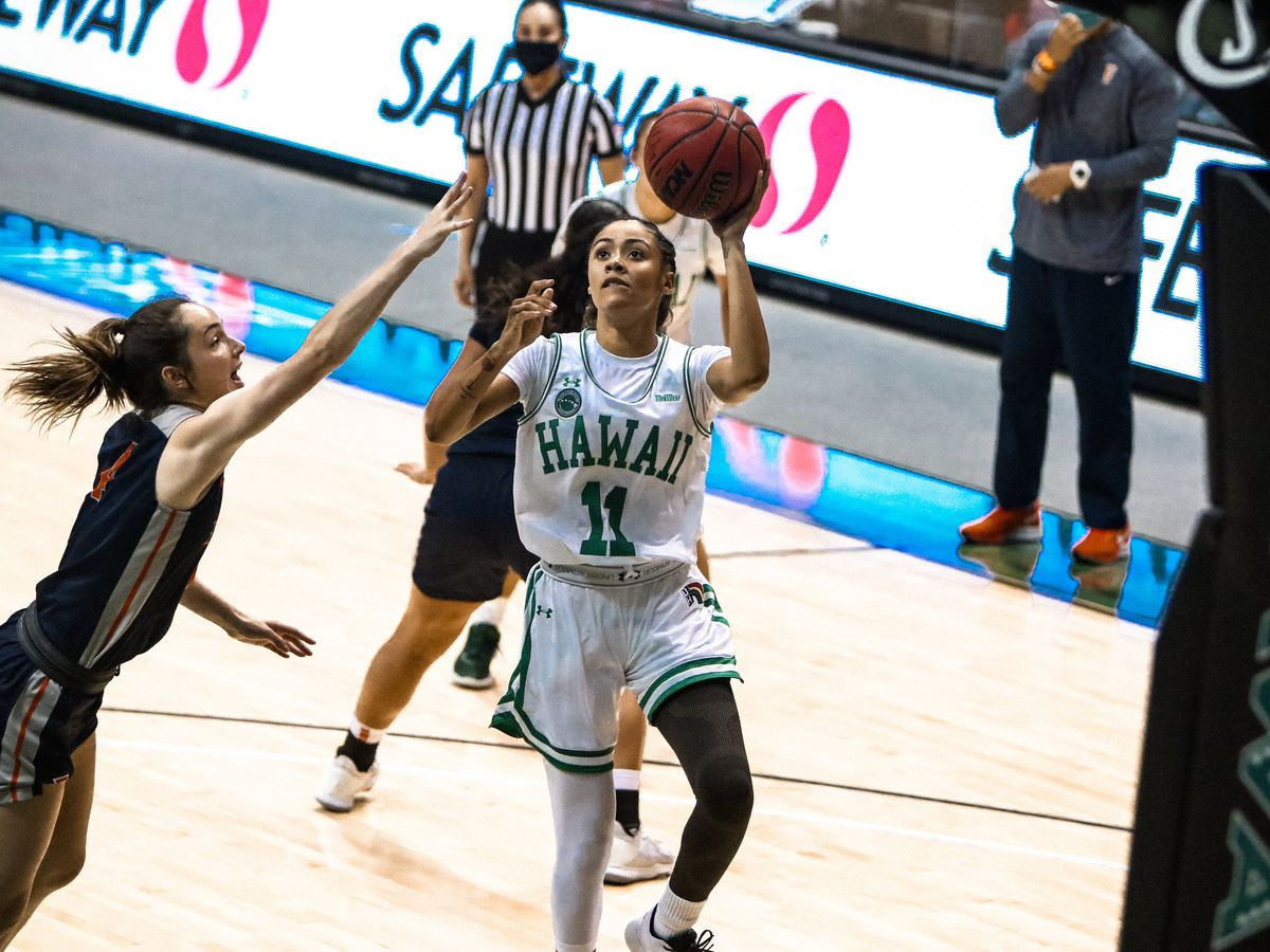 Rainbow Wahine basketball best CSU Fullerton, 49-47 at home