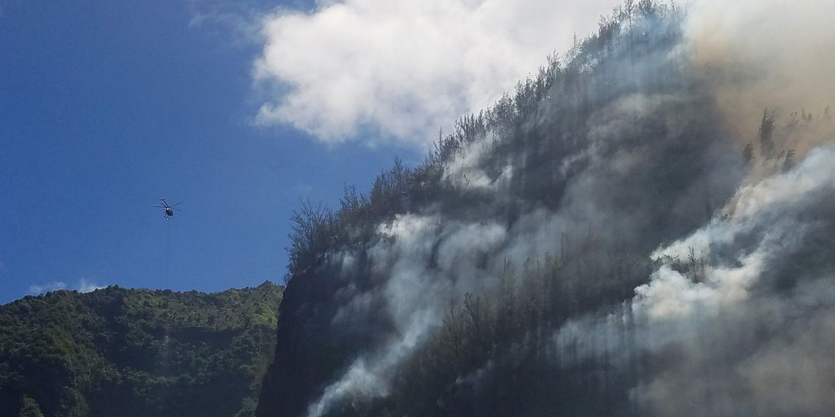 Wildland fire on Kauai's Na Pali Coast highlights drought conditions statewide