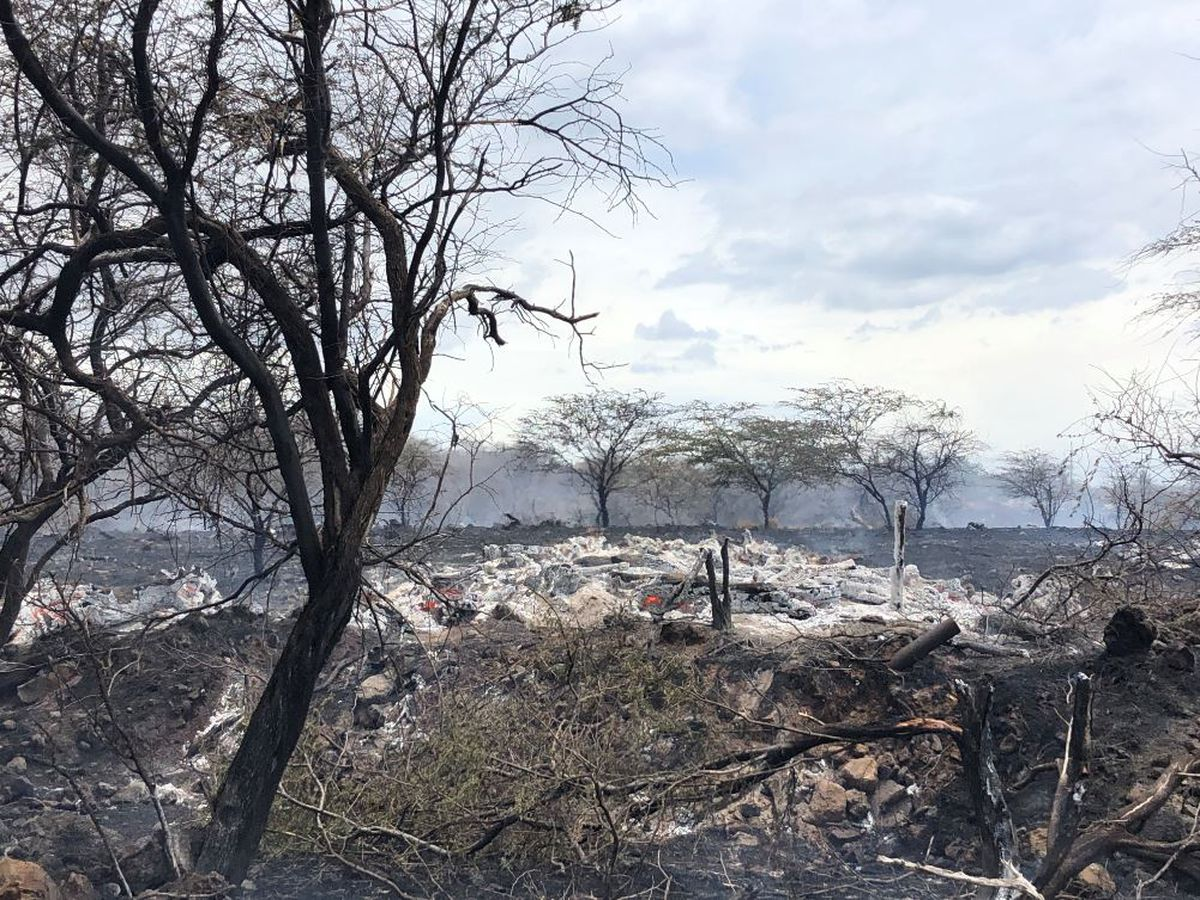 Maui brush fire fully contained; 80 acres scorched