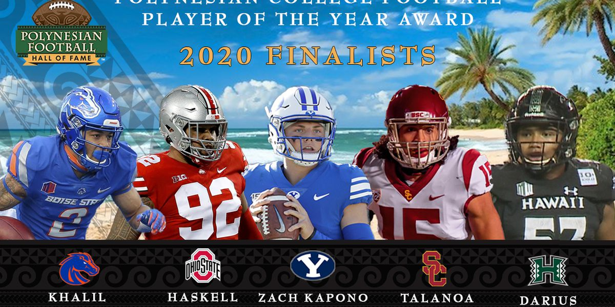 Polynesian Football Hall of Fame unveils finalists for Polynesian College Football Player of the Year