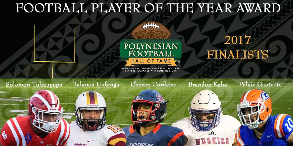 Polynesian Hall of Fame announces finalists for inaugural Polynesian High School Football Player of the Year Award