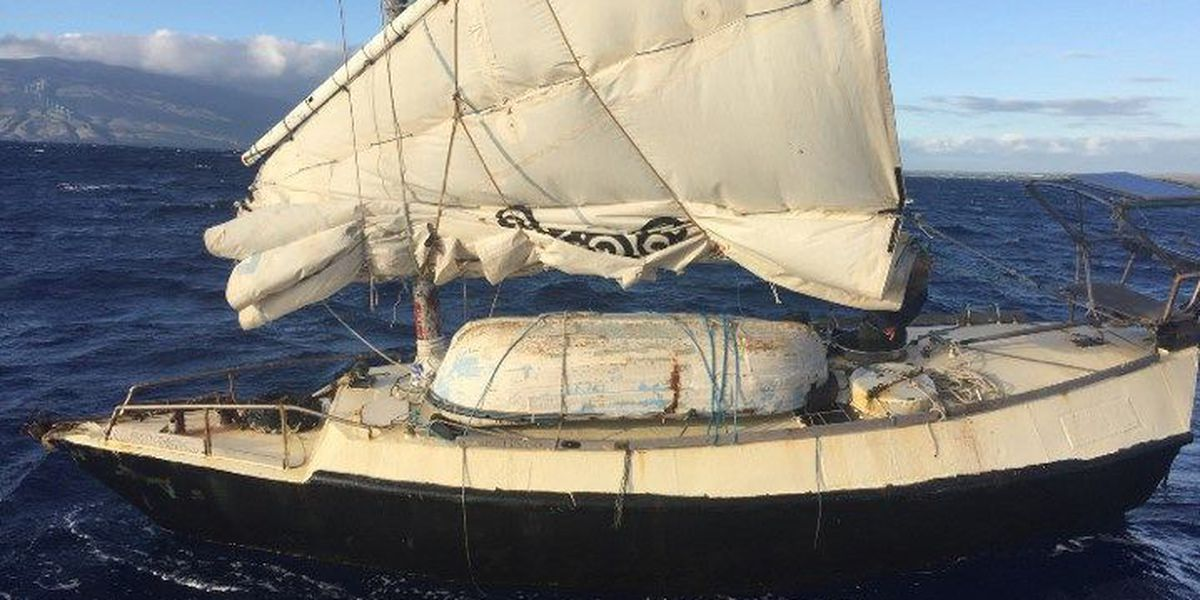 Australian who set sail in homemade boat rescued off Maui