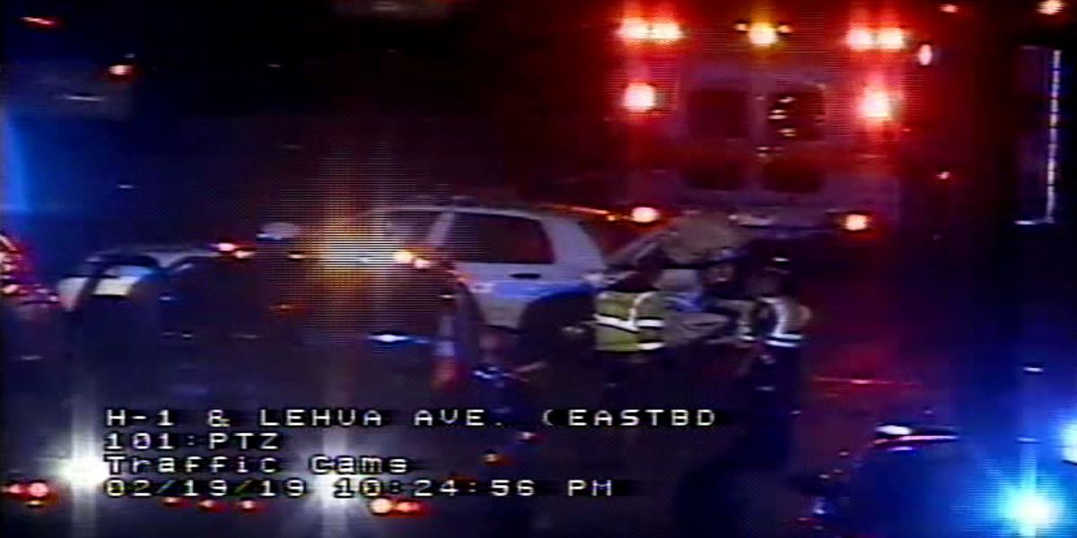 Lanes of H-1 in Pearl City reopened after crash involving HPD vehicle