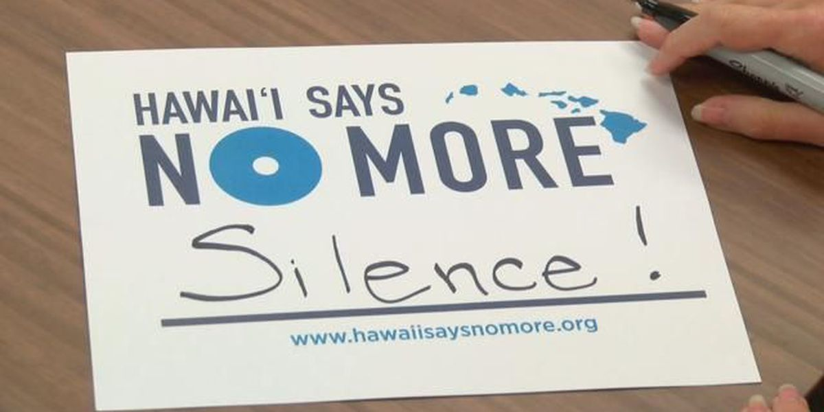 'Hawaii says NO MORE' to end domestic violence, sexual assault