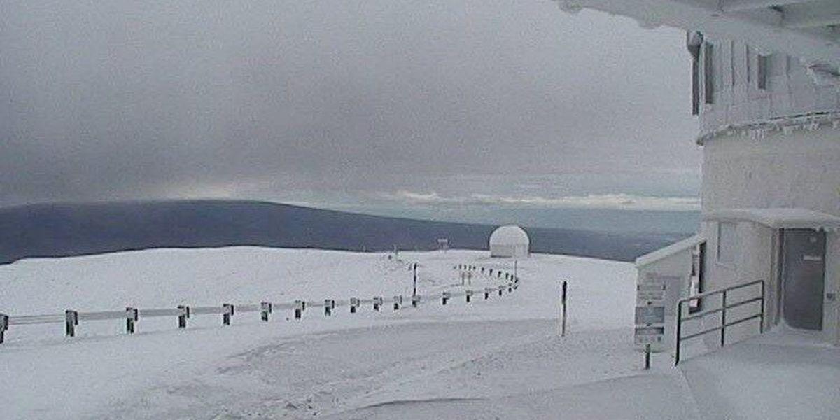 Hawaii summits under Blizzard Warning as heavy snow falls