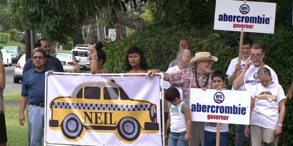 Candidates conduct last minute sign waving and get out the vote efforts