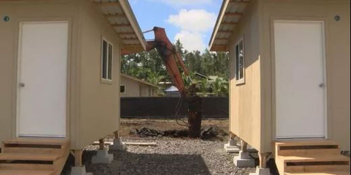 Housing units for families displaced by lava nearly finished