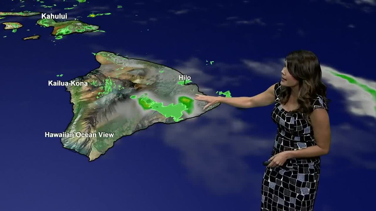 Wintry mix on the summits and heavy pockets of rain popping up across the islands