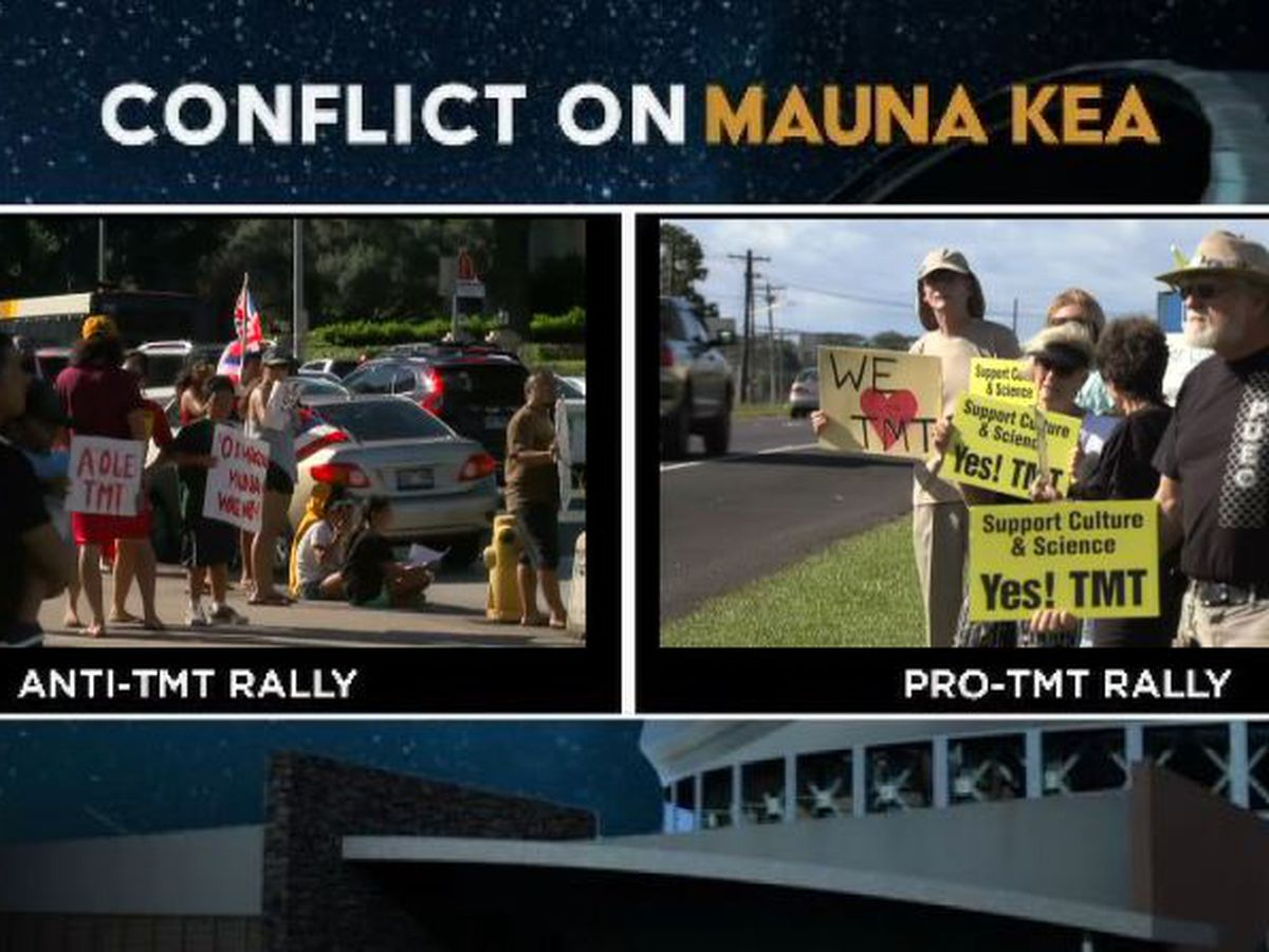 Both sides of the TMT debate make their point known with rallies across the state