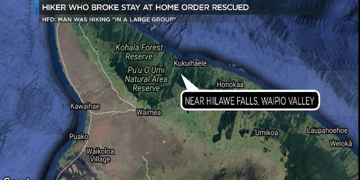 Visitor who broke stay-at-home order fractures leg while hiking in Waipio Valley
