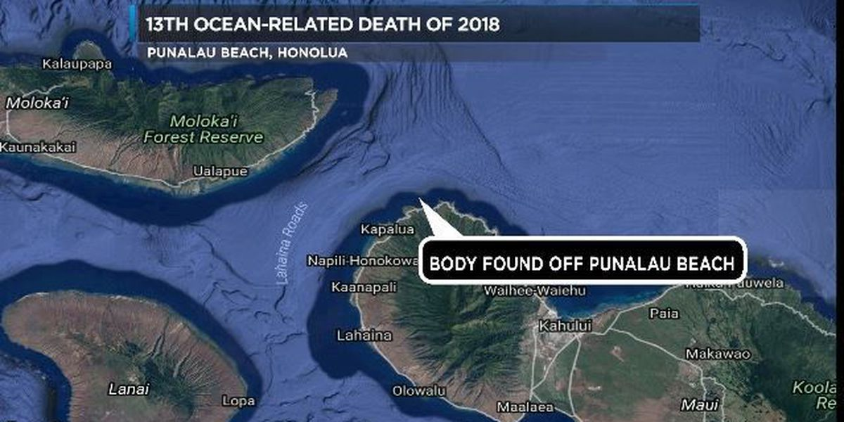 Man dies after being knocked over by a wave off Maui's Punalau Beach