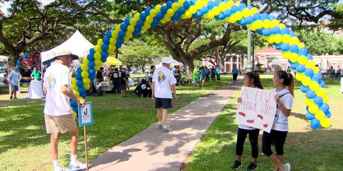 Hundreds join the walk to end mental illness stigmas in Hawaii