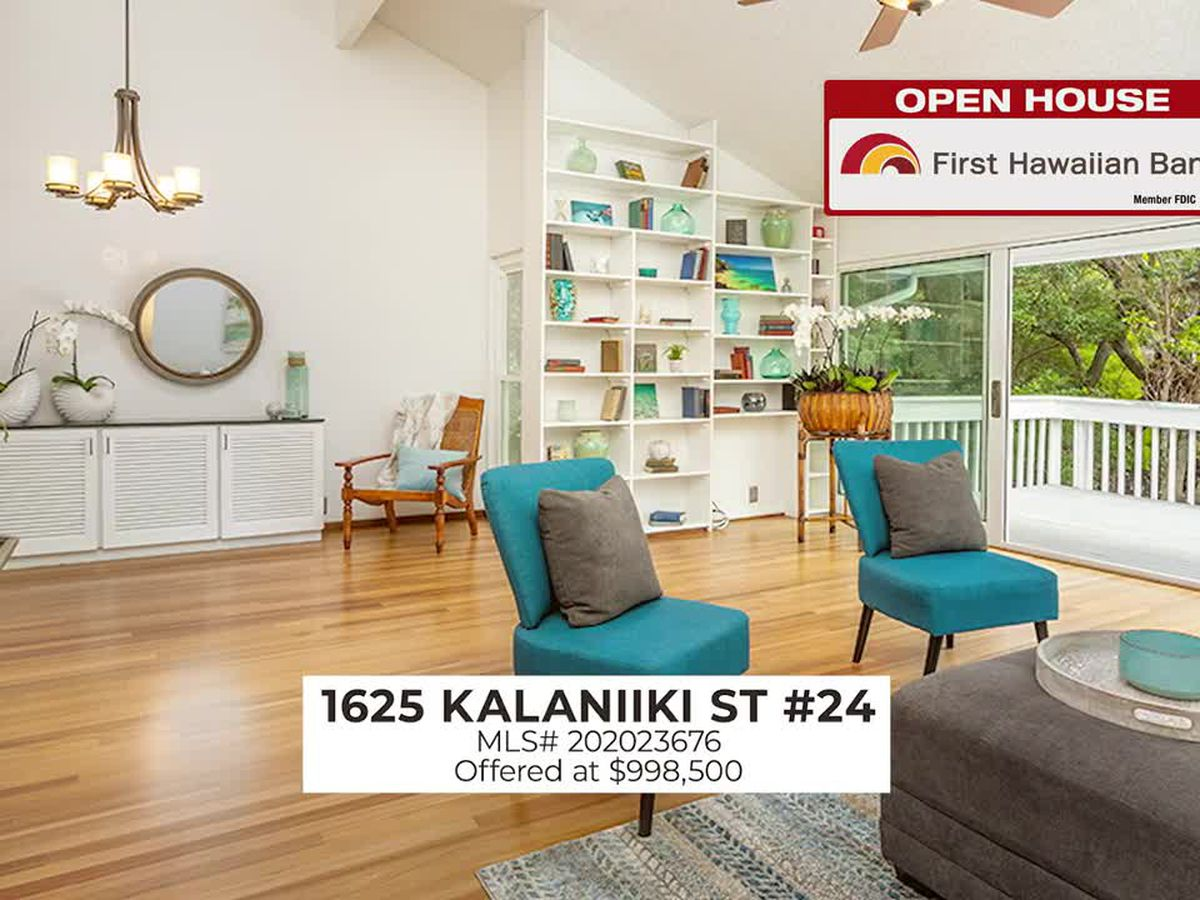 Open House: Upgraded 2 BD, 2 BA unit in Waikiki and stunning home in Kalani Iki Estates