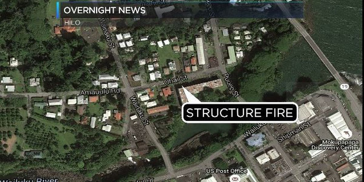 Big Island firefighters extinguish fire from structure occupied by squatters