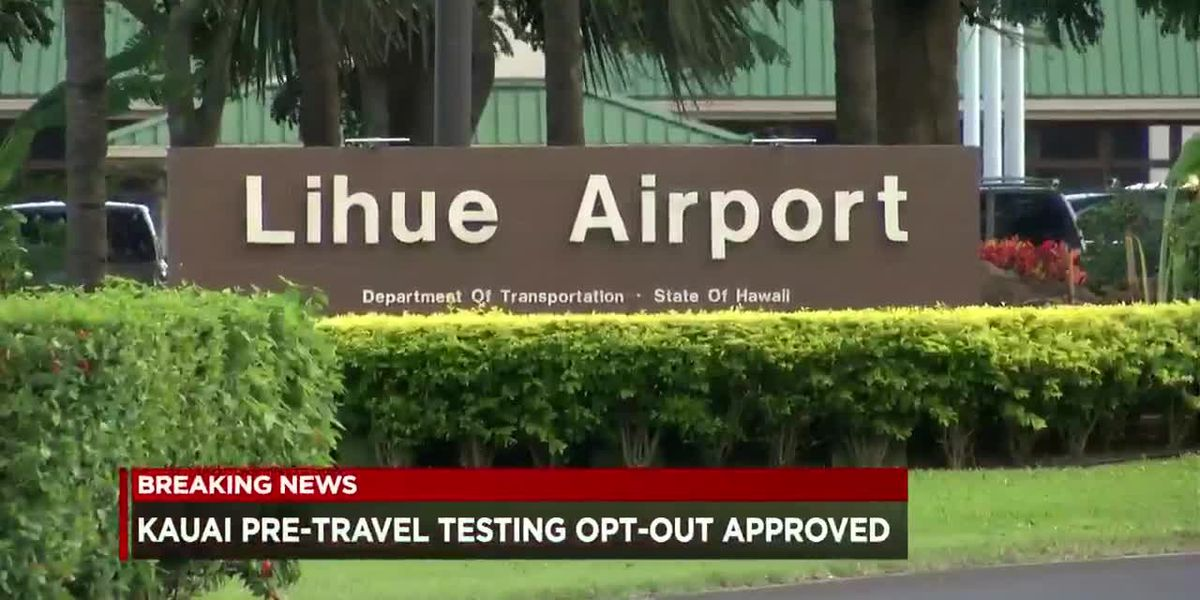Governor approves Kauai mayor's request to opt out of pre-travel testing program
