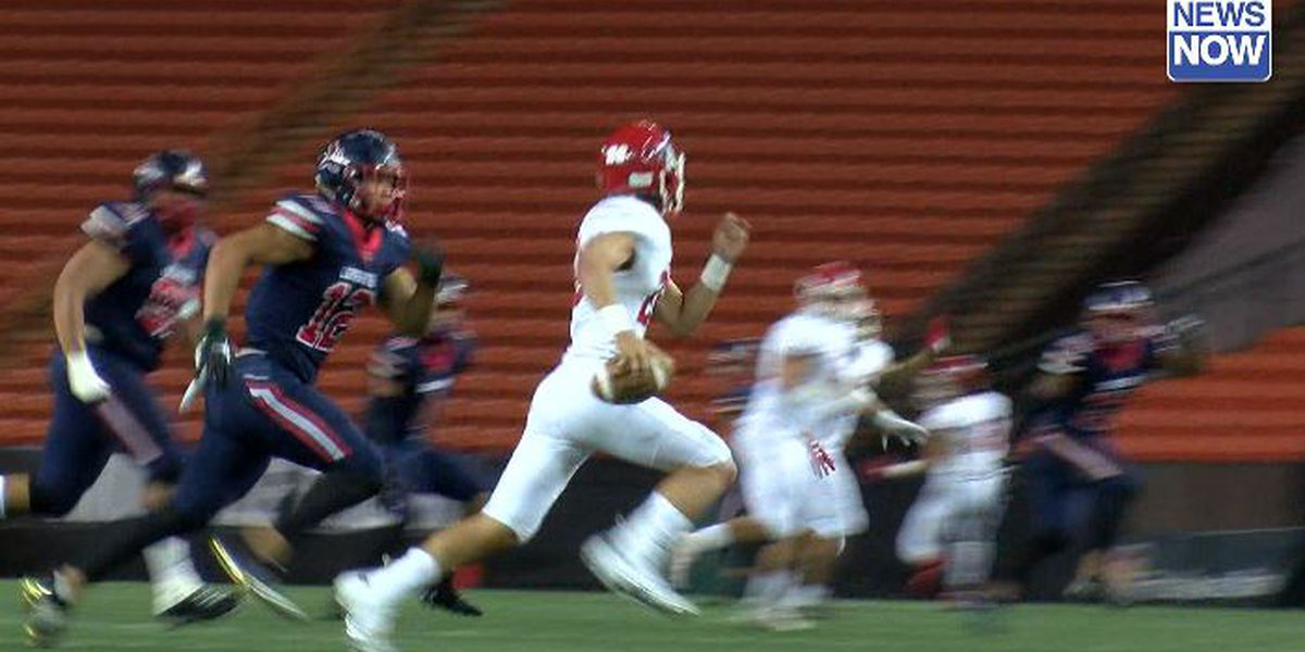 Saint Louis dominates Kahuku, 49-22; advances to 4th straight state title game