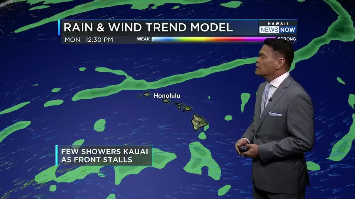 Forecast: Light winds, minimal showers to start the week