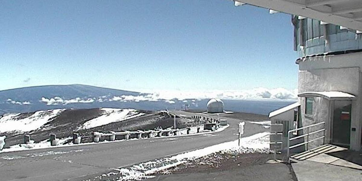 Winds stronger than a Cat 5 hurricane buffeted Mauna Kea during storm