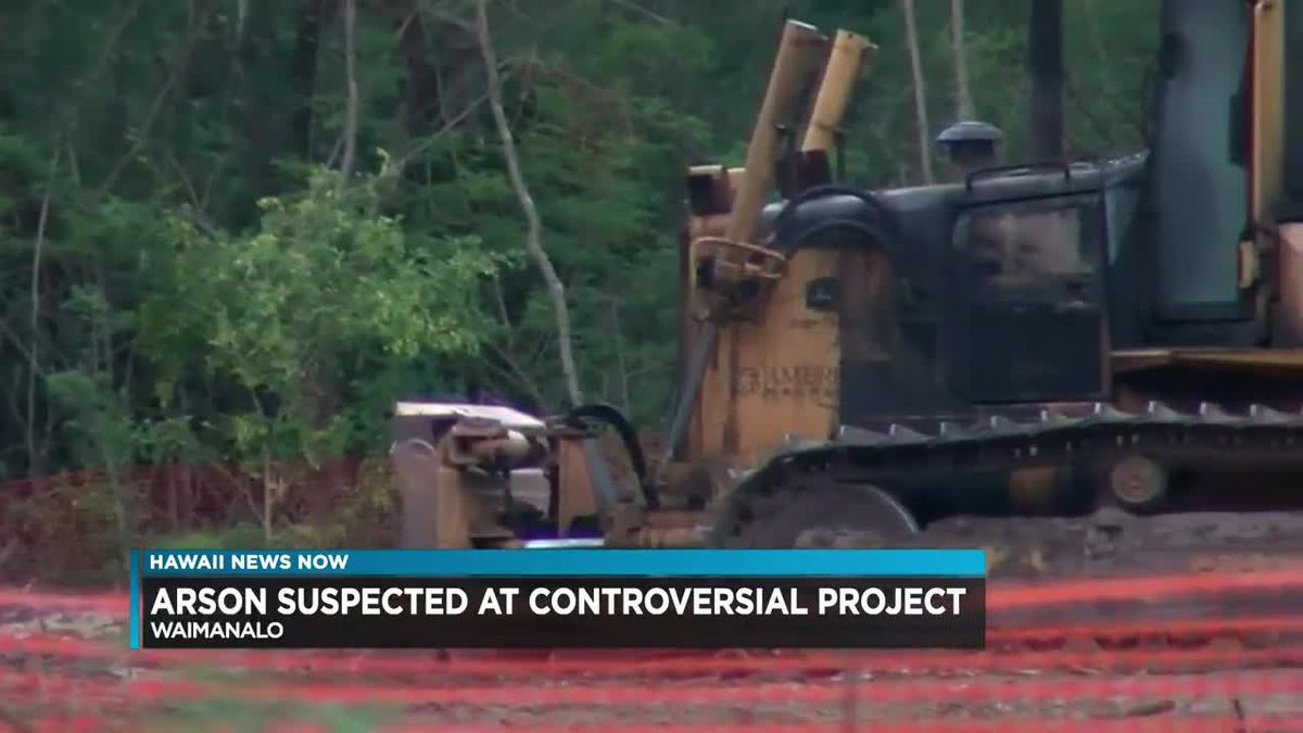 Arson suspected after machinery for controversial Waimanalo park project goes up in flames