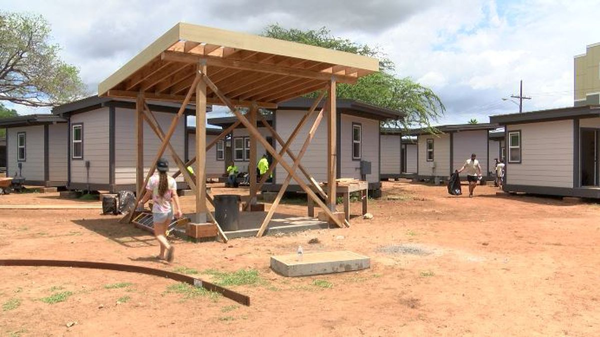 Helping struggling individuals off the street, Kalaeloa tiny homes project nearing completion