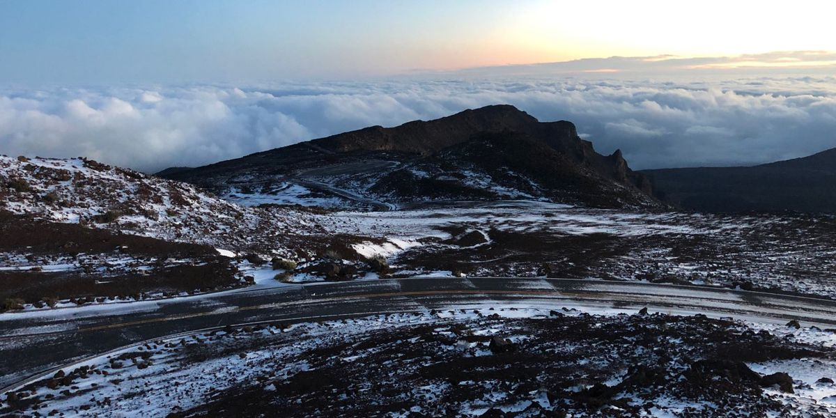 Haleakala National Park summit reopens after a dusting of snow