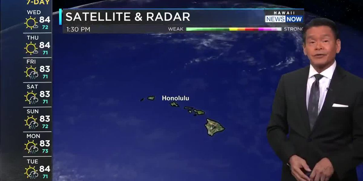 Forecast: No letup in the breezy trade winds