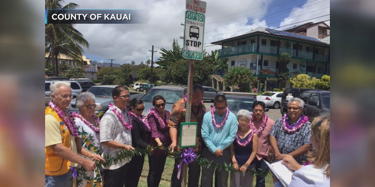 Kauai County opens 9 new bus shelters in an effort to improve service