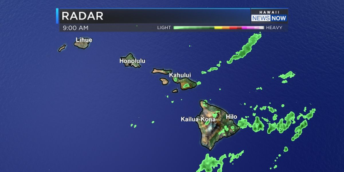 Forecast: Cooler and drier, but lingering showers near Big Island