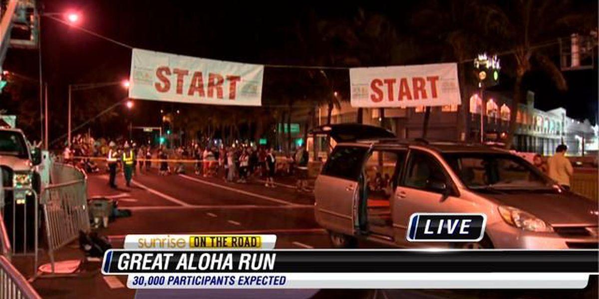 Sunrise on the Road: Great Aloha Run