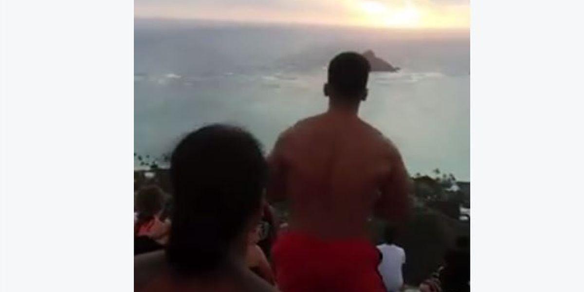 Viral video shows group performing haka at Lanikai Pillboxes