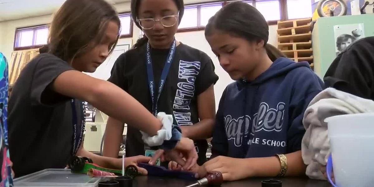 Sunrise Field Trip: Teaching STEM with wood dragsters at Kapolei Middle School