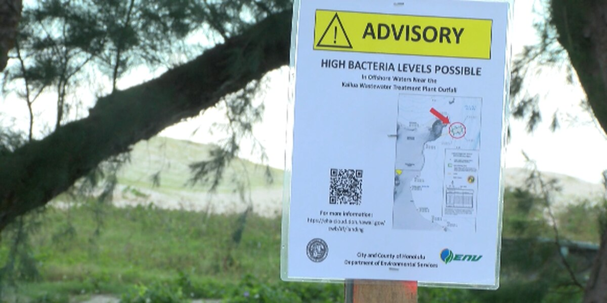 DOH advises public to avoid Kailua Bay after large discharges of wastewater