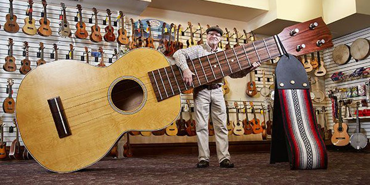 A guy in Michigan just built the world's largest ukulele