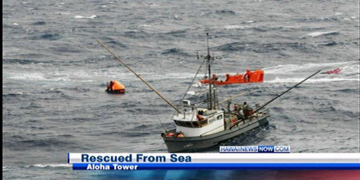 Washington couple rescued by cruise ship arrive in Honolulu