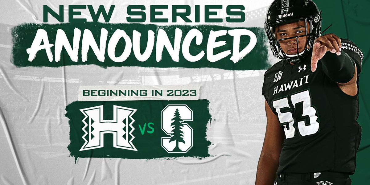 UH announces four-game football series with Stanford set to start in 2023