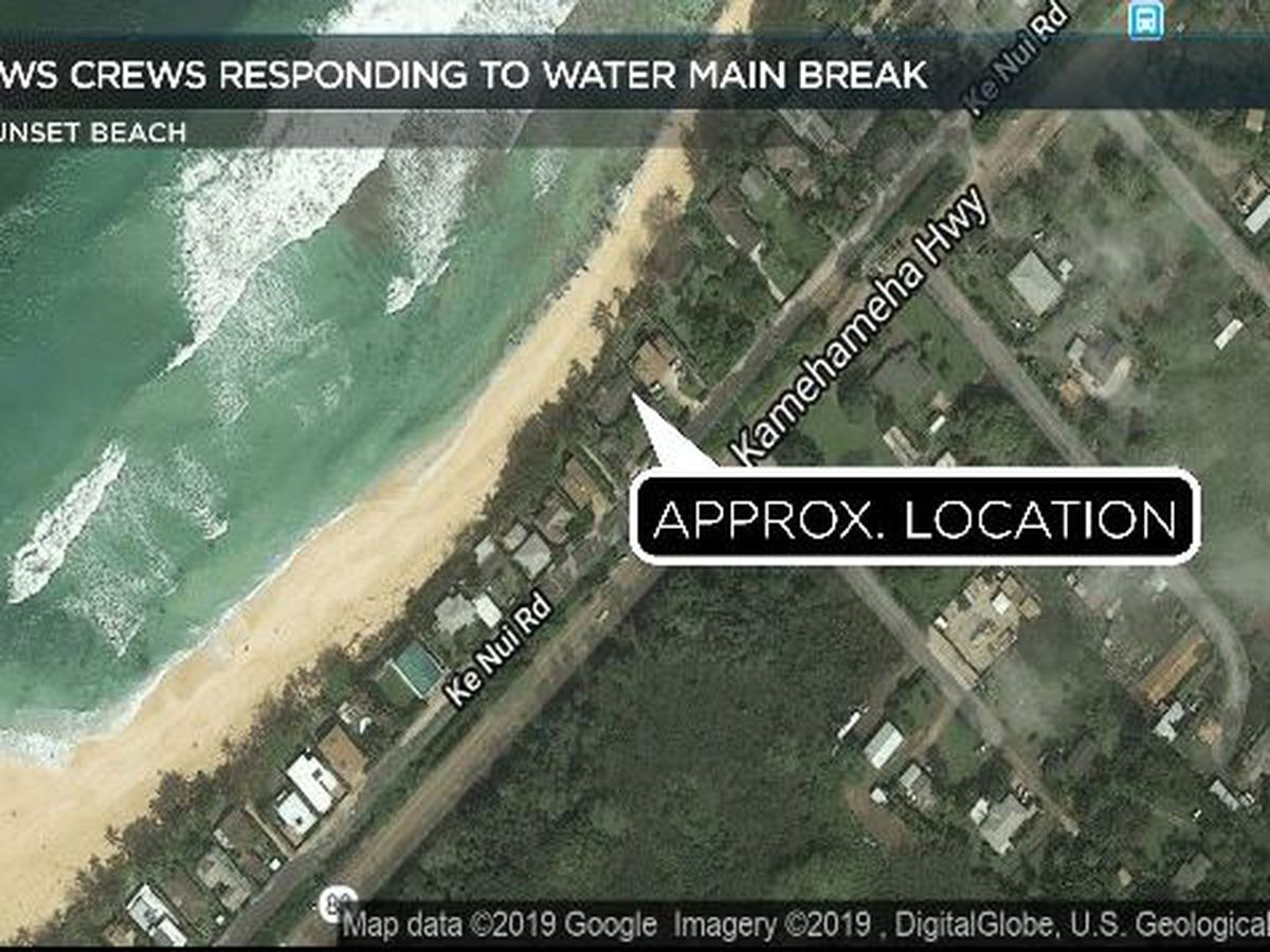 Crews making repairs to water main break in Sunset Beach area