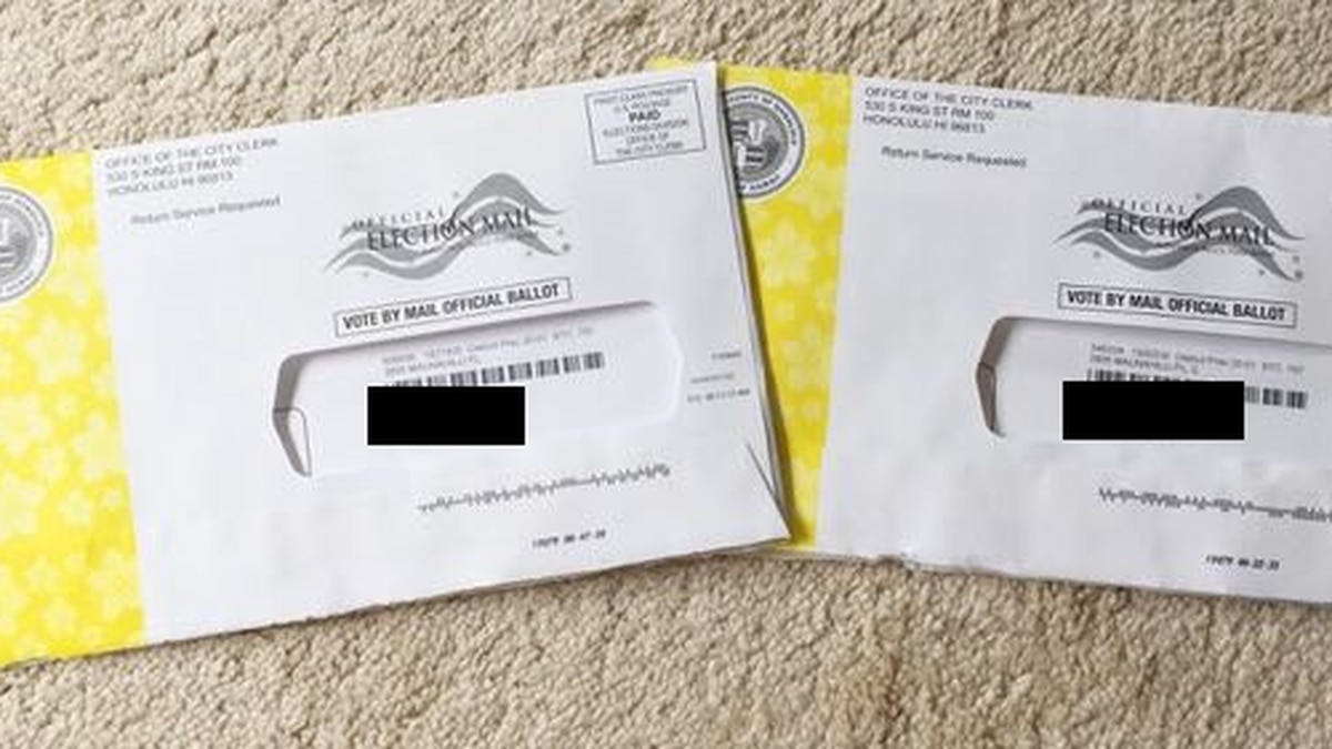 Special East Honolulu election further scrutinized after a voter is mailed 2 ballots