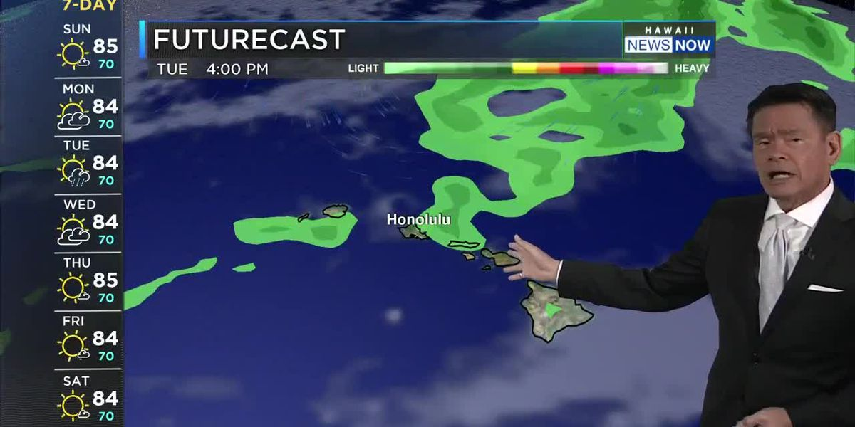 Forecast: Locally breezy trades about to drop off