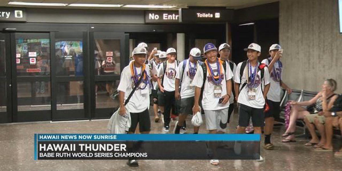 Hawaii Thunder baseball team come home as champions