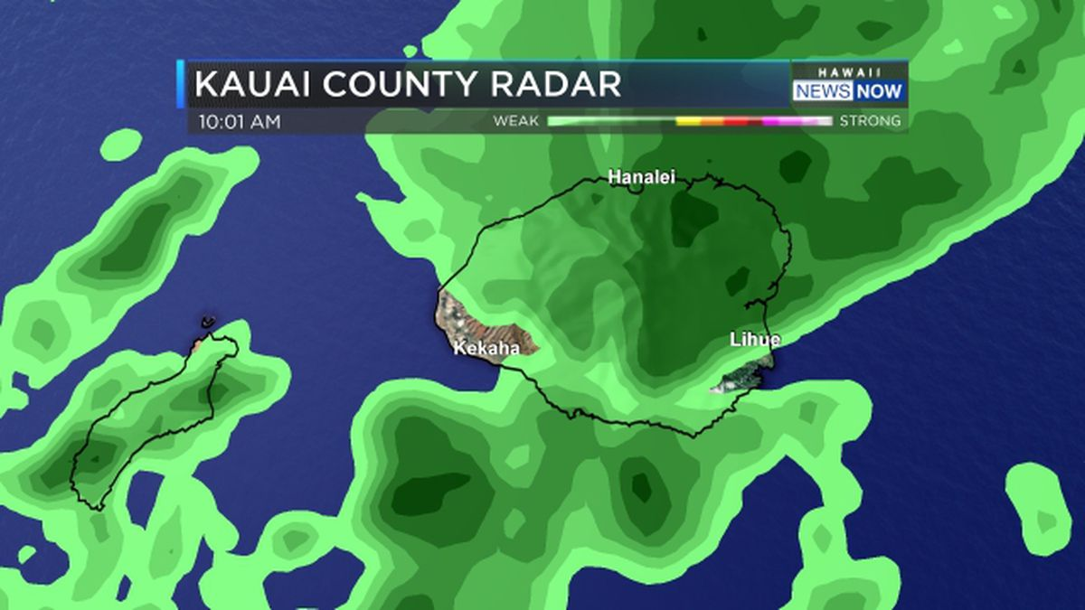 Flash flood watch issued for Kauai County as front stalls nearby