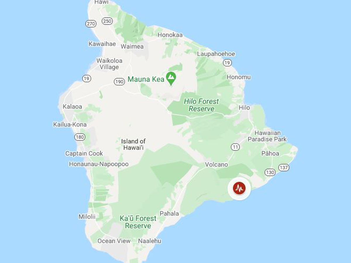 4.6 magnitude quake rattles Hawaii Island; no tsunami threat