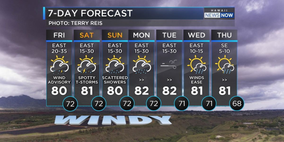 Forecast: Blustery conditions, heavy rainfall to persist over the weekend