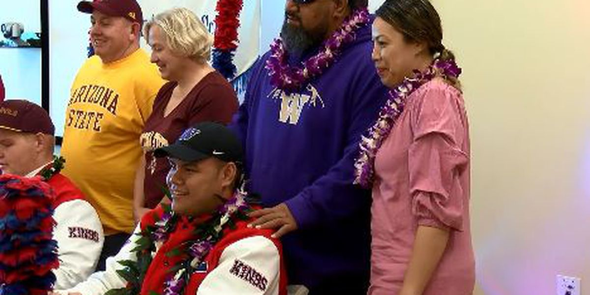 Saint Louis' Tuitele has dream of playing college football turn into reality after signing with Huskies