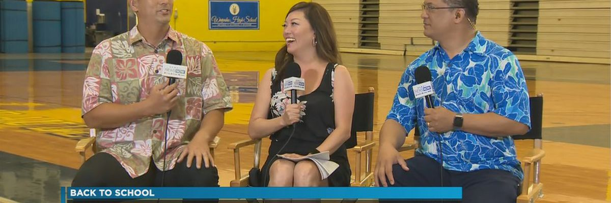 Sunrise goes 'On the Road' to Waipahu High School for first day of school