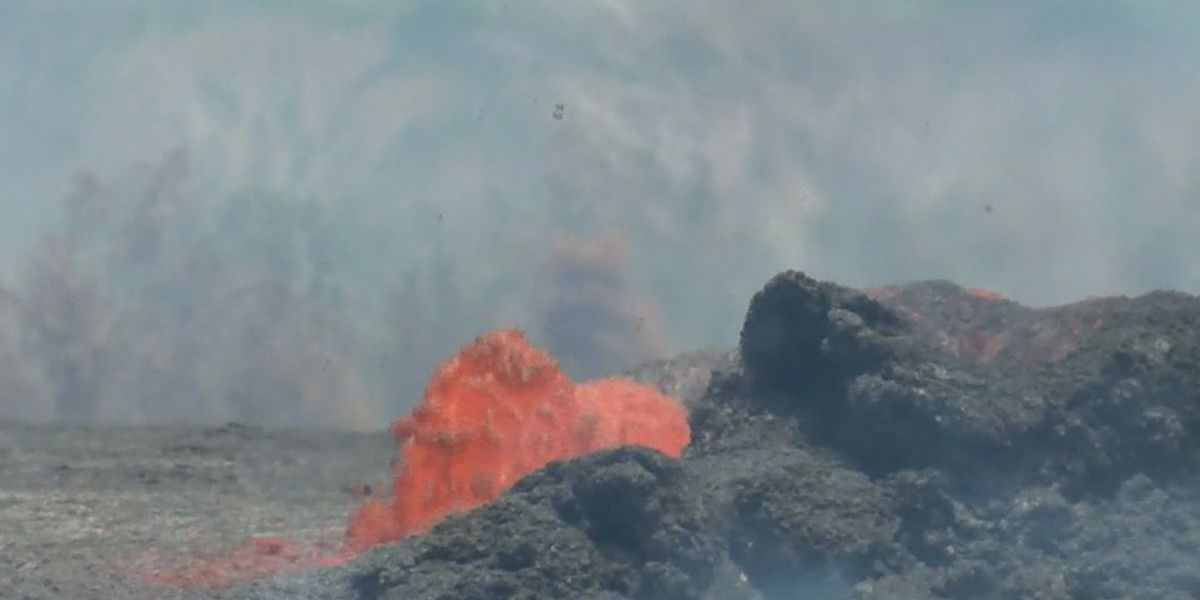 From her backyard bench, a spectacular — and devastating — lava show