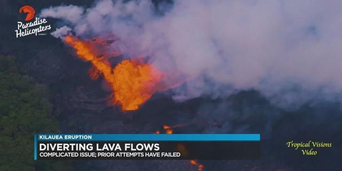 Kilauea Volcano FAQ's: Can the lava be diverted?