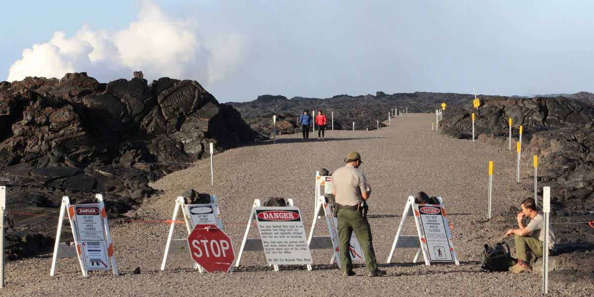 Hikers cited for entering off-limits area to view Kilauea flow