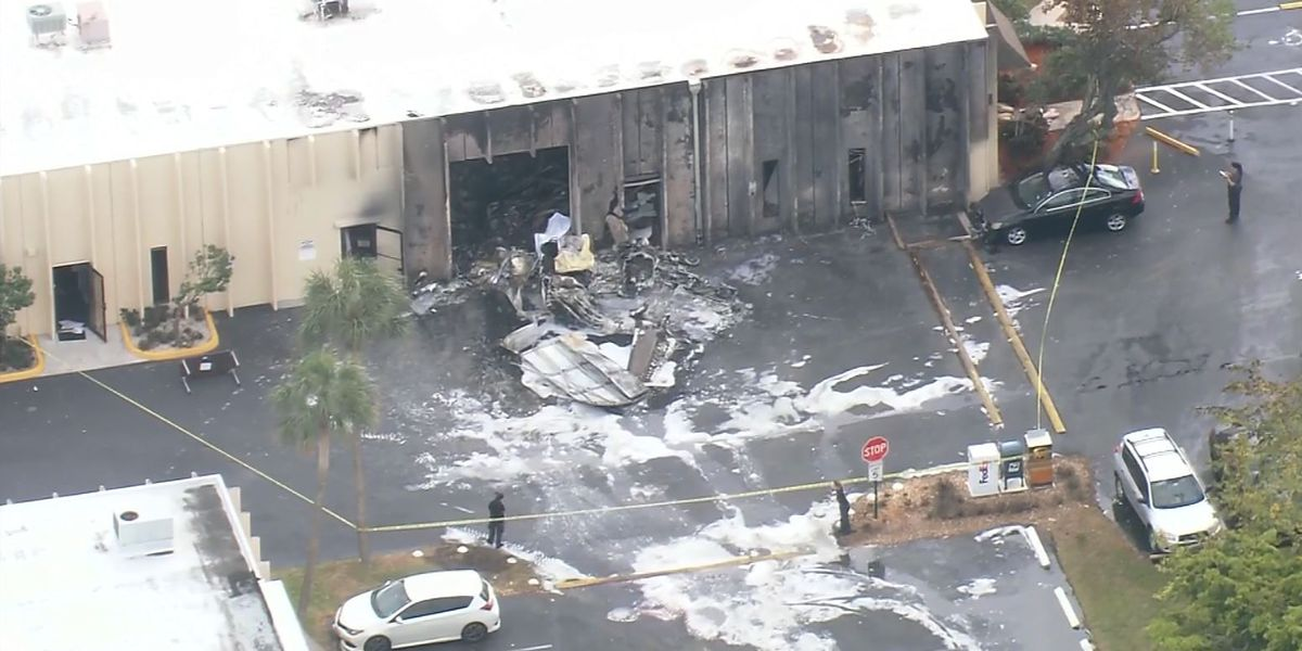 Plane crashes into Florida autism therapy facility; 2 dead